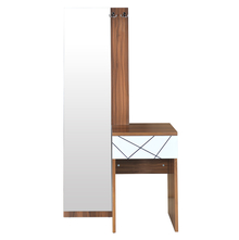 Tiffany Dresser With Mirror - @home By Nilkamal, Walnut & White