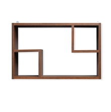 Zoe American Wall Shelf - @home by Nilkamal, Walnut