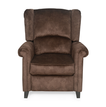 Mayor 1 Seater Sofa with Manual Recliner - @home by Nilkamal, Chocolate