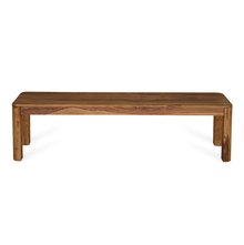 New Granada 8 Seater Dining Bench, Natural Walnut