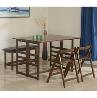 Musk 1+ 2+ Bench Dining Set - @home by Nilkamal, Cappucino