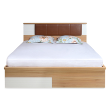 Valentino King Bed with Storage, Maple