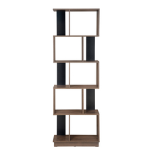 Checkers 5 Tier Book Shelf, Walnut
