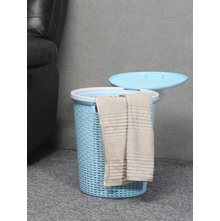 23 litre Laundry Basket with Lid, Sea Green