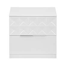 Theia High Gloss Night Stand - @home by Nilkamal, White
