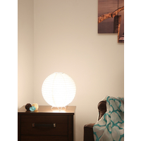 Ball Table Lamp, White