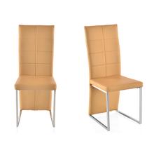 Brick Dining Set Chair Set of 2 - @home By Nilkamal, Cush Beige