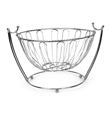 Metal Round Fruit Basket with Handle - @home by Nilkamal, Multicolor