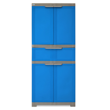 Nilkamal Freedom Cabinet with 1 Drawer Center - Deep Blue & Grey