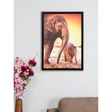 Elephant Mom Son 50X70CM Picture Frame, Orange