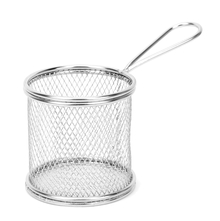 Metal Round Fries Holder - @home by Nilkamal, Silver