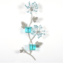 Wall 2 Pieces Votive Stand - @home by Nilkamal, Seagreen