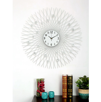 Galaxy Crystal Wall Clock, Silver