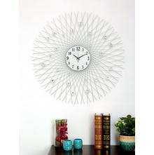 Galaxy Crystal Wall Clock, Silver