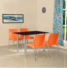 Napoli 4 Seater Dining Set - @home by Nilkamal, Orange