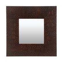 Paisley Console Mirror, Honey Walnut