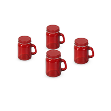 Mason Glass 120 ml Spice Jar Set of 4, Red