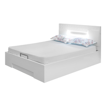 Theia High Gloss King Bed with Storage - @home by Nilkamal, White