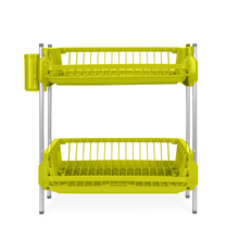 Double Dish Drainer Set - @home by Nilkamal, Green