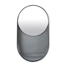 Oval 41x11x71cm Wall Mirror in Magnet Border -@home by Nilkamal, Black