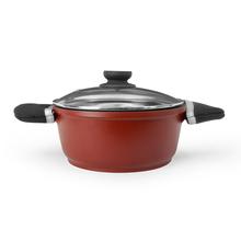 Bergner Cook n Serve Diecast Pot with Lid, Red