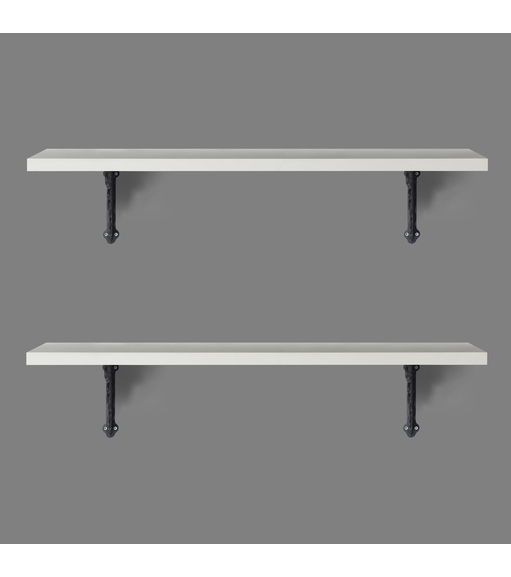Opera & Janus Medium Wall Shelf Set of 2 - @home by Nilkamal, White