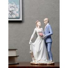 Dancing Couple Showpiece, Blue