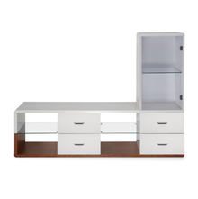 Walt Low Height Wall Unit - @home by Nilkamal, Ivory with Walnut