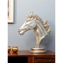 Horse Head Showpiece, Silver