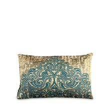Scroll 30 cm x 45 cm Filled Cushion - @home by Nilkamal, Sea Green