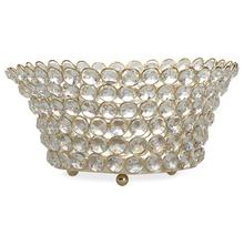 Crystal Drops Metal Large Bowl, @home By Nilkamal, Silver