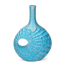 Awadh Large 28X11X40CM Vase, Seagreen