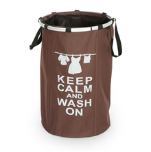 Keep Calm Laundry Bag - @home by Nilkamal, Brown