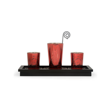 Divine Votives with Tray Gift Set of 3 - @home by Nilkamal, Red