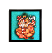 Ganesha Morpankh Painting - @home by Nilkamal, Sea Green