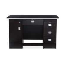 Nilkamal Recardo Office Table, Black/Walnut