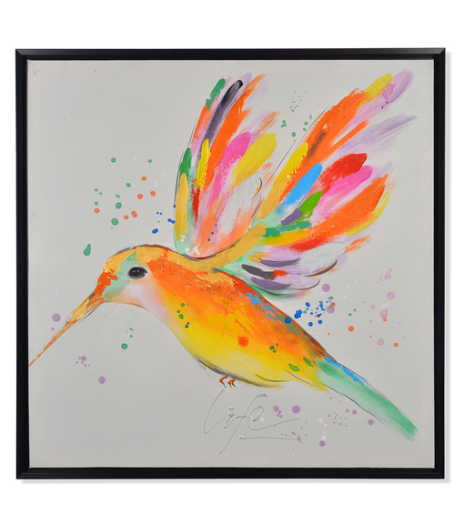 Kingfisher Summer Picture Painting 80 x 80 - @home By Nilkamal, Indigo & Olive