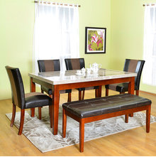 Jenn 1+ 4+ Bench Dining Set - @home by Nilkamal, beige with walnut