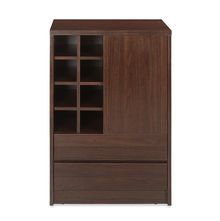 Denver Medium Bar Cabinet, Dark Walnut