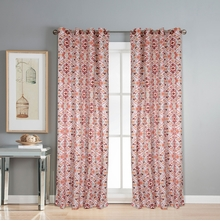 Digi Suzani 112 cm x 274 cm XL Door Curtain Set of 2 -@home by Nilkamal, Maroon