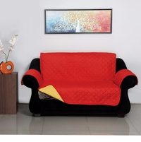 2 Seater Reversible Sofa Cover 179 cm x 223 cm - @home by Nilkamal, Red & Yellow