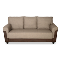 Saviour 3 Seater Sofa - @home by Nilkamal, Mocha Brown