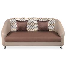 Greenville 3 Seater Sofa - @home By Nilkamal, Brown Beige