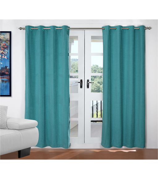 Moshi 112 cm x 214 cm Door Curtain Set of 2 - @home by Nilkamal, Sea Green