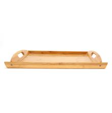 Rectangle Bamboo Medium Tray - @home by Nilkamal, Brown