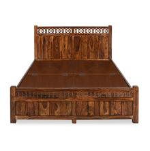 Citrine Queen Bed - @home by Nilkamal, Honey Walnut