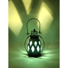 LED Hanging Lantern, Sea Green