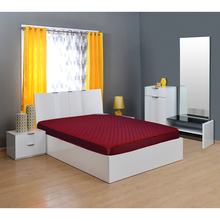 Executive 5 Foam Mattress - @home By Nilkamal,  maroon, 72x48x5