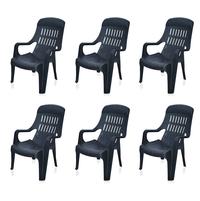 Nilkamal Weekender Garden Chair Set of 6 - Black
