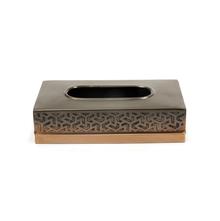 Geo Print Tissue Box, Bronze